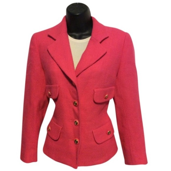 Vintage Jackets & Blazers - Vintage Pink Wool Blazer